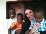 Cedric Villani and Wilfrid Gangbo in Benin, Africa